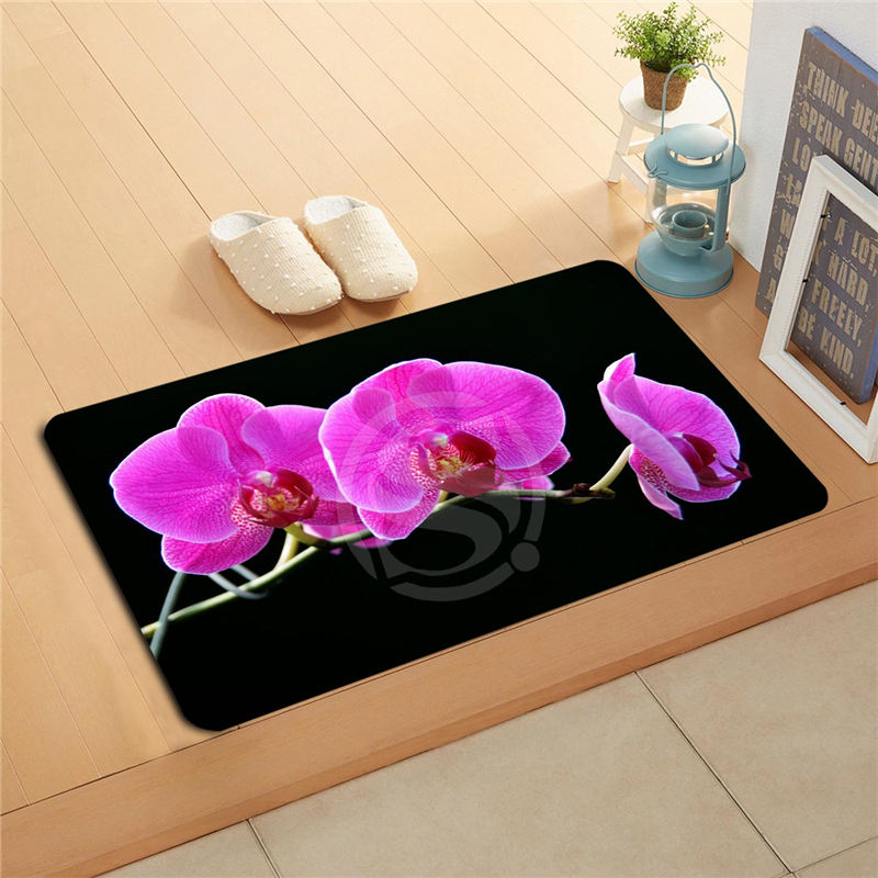 KU-51Sff Custom flowers orchid flowers Doormat Home Decor Door mat Floor Mat Bath Mats f ...