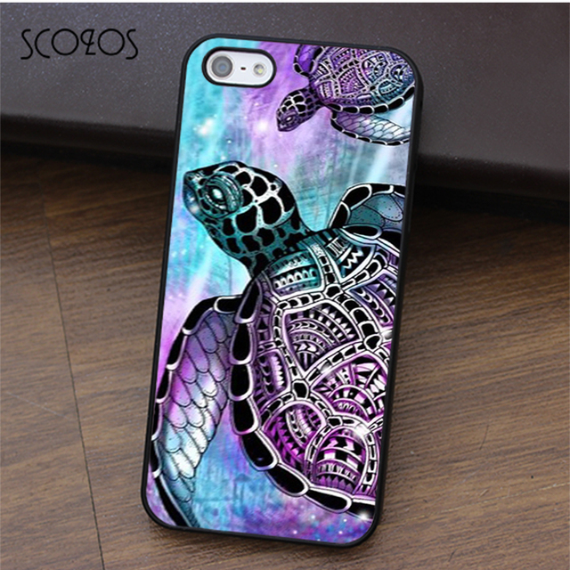 watch 68ef4 70028 US $4.99 |SCOZOS Sea turtle shell colourful tie dye phone case for iphone X  4 4s 5 5s Se 5C 6 6s 7 8 6&6s plus 7 plus 8 plus #ca368-in Fitted Cases ...
