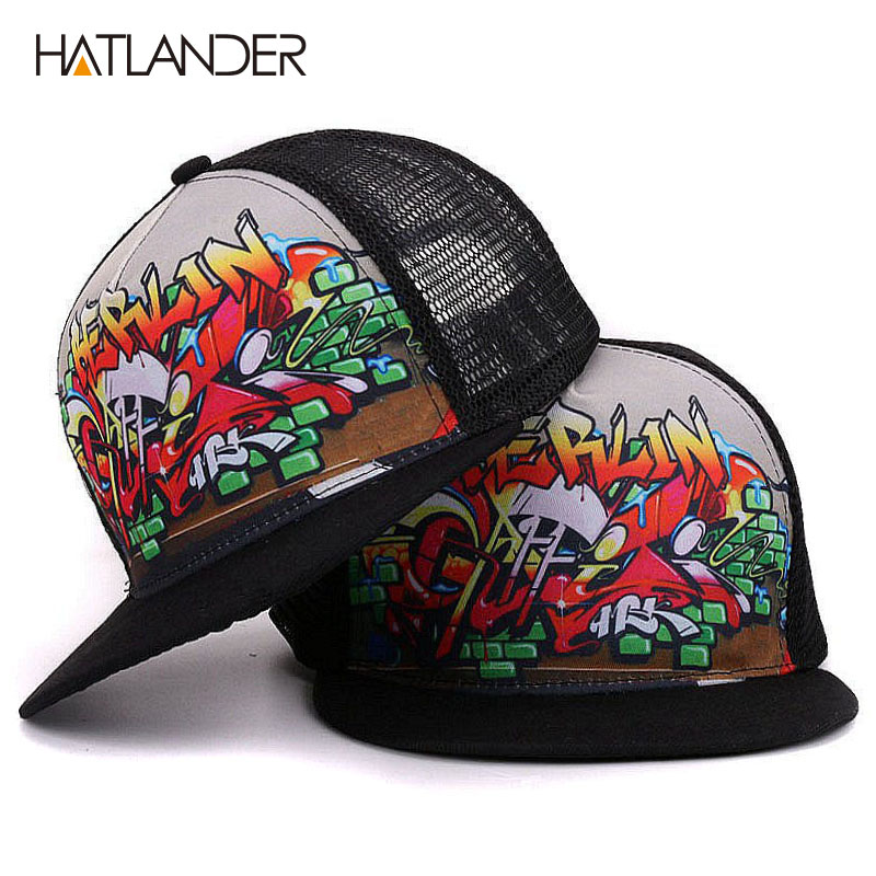 [HATLANDER]New parent-child   baseball     cap   for boys girls cool hip hop   caps   snapback summer sun hats mesh trucker   caps   men women