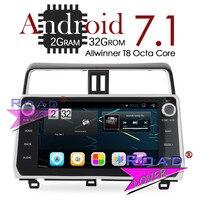 TOPNAVI 10.2Inch New Android 7.1 Car GPS Navigation Radio Player For Toyota Prado 2018 Stereo 2G+32GB Octa Core 2Din MP3 NO DVD
