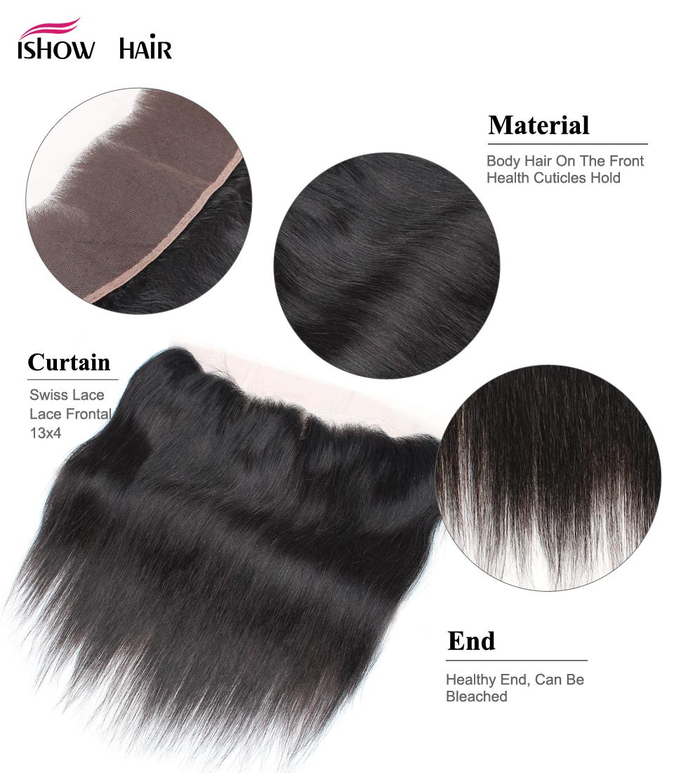 _02  Ishow Hair Ear To Ear Lace Frontal Closure With Bundles Brazilian Straight Human Hair three Bundles With Closure Non Remy four Pcs/lot HTB10iAudSBYBeNjy0Feq6znmFXam