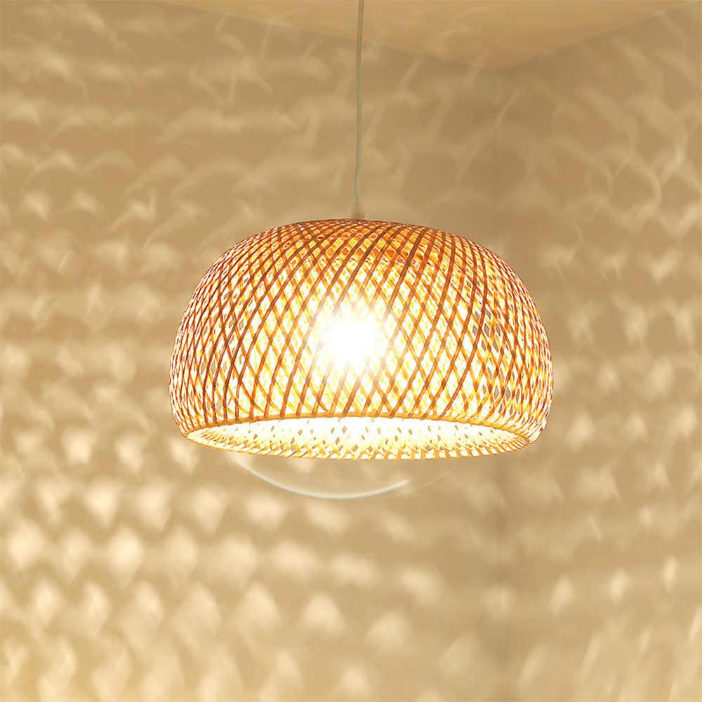 Новый Юго-Восточной Азии ручной работы бамбуковая плетеная ротанга искусство подвесные светильники индивидуальный ресторан отель кофе висячий набор ламп