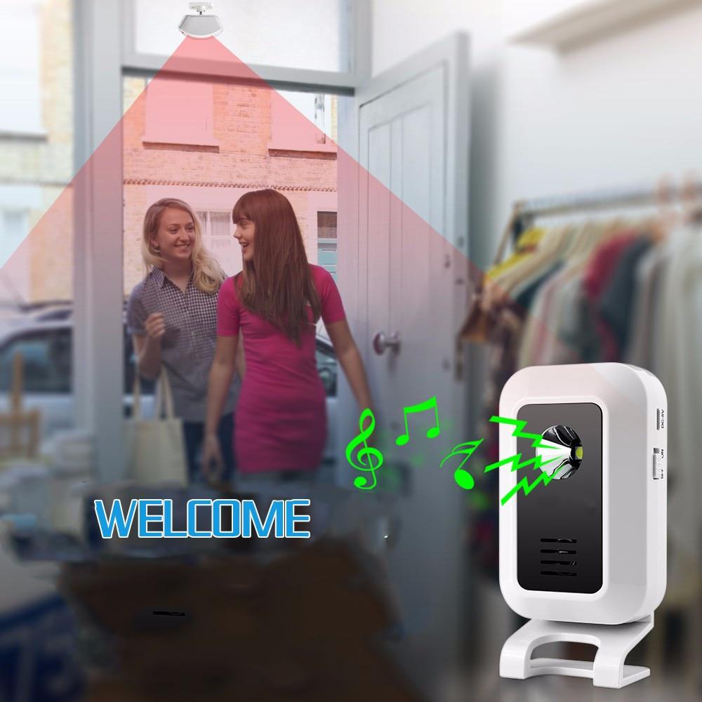 Smart Door Bell  Suppoert Add wireless Sensor Detector Doorbell  Wireless Cordless Smart Chime Welcome Alarm System smart visitor door bell chime wireless
