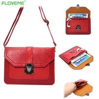 FLOVEME Universal Leather Case For IPhone 5 5s Se 6 6s Plus Messenger Phone Case Bag