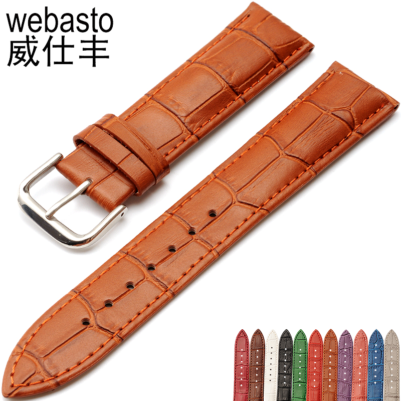 цены Men's Alligator Leather 12 14 16 18 19 20 21 22 24 26 28 mm Watch Band Strap For Hours Male Female Belt Bracelet Montre Cuir