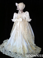 Великолепные Аппликации бисером blings кружева для маленьких девочек белый/цвета слоновой кости платье для первого причастия Крещение платье