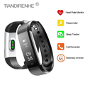 Smart Band ID115 HR Bluetooth V4.0 Bracelet Heart Rate Monitor Sleep Tracker Fitness Tracker Wristband for iPhone mi 2 Fitbit