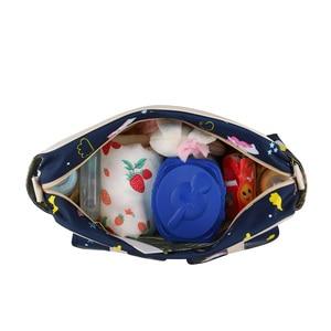 Image 4 - New Print Diaper Bag Waterproof Large Capacity Baby Bags for Mom Multifunction Stroller Maternity Bag Baby Care 10 Colors