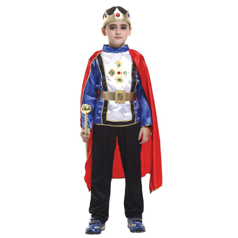 Children's day Boy Kids prince costumes rhinestone crown halloween coslpay clothing birthday theme party wear fairy tale