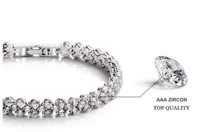 Fashion Brautschmuck AAA + Zirkonia Kristall Römischen Frauen & Armband Anzug Für Hochzeit