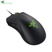 В наличии! Razer DeathAdder Essential эргономичная профессионально-качественная мышь 6400 dpi оптический датчик для компьютера ноутбука ПК мыши
