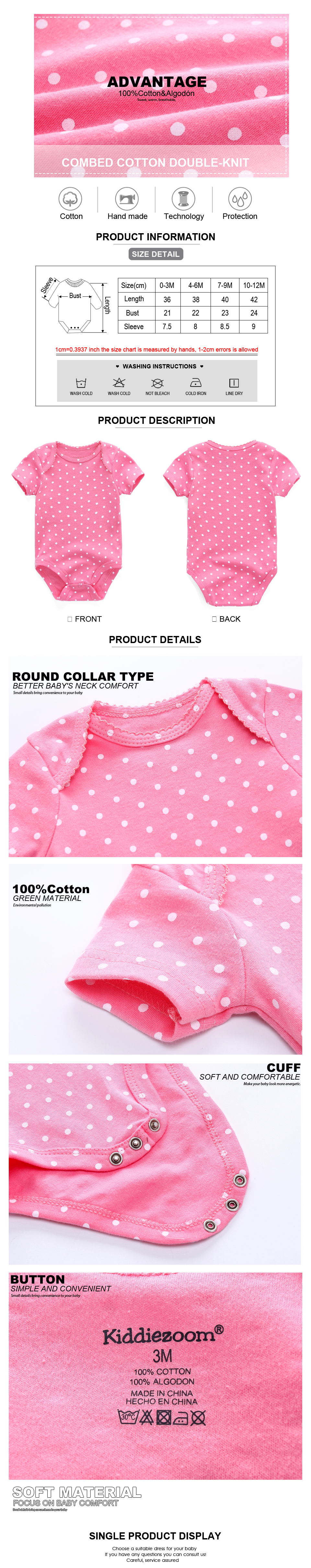 HTB10iC0rqSWBuNjSsrbq6y0mVXa4 Top Quality 7PCS/LOT Baby Boys Girls Clothes 2019 Fashion Roupas de bebe Clothing Newborn rompers Overall baby girl jumpsuit