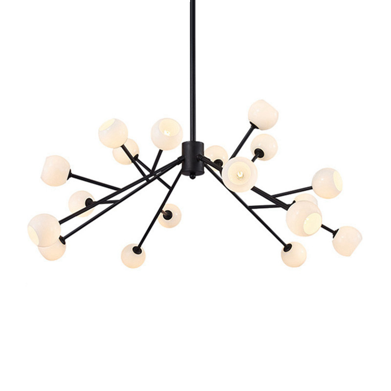 New arrival loft pendant lamp Metal Branch G9 LED lamp artistic glass lampshade home shop restaurant decoration free shipping