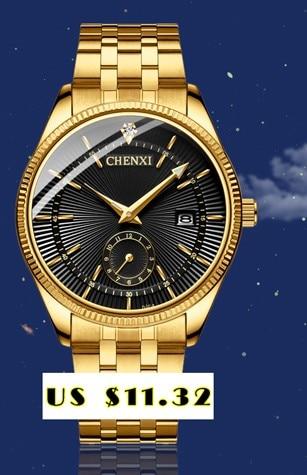 CHENXI Brand Top Luxury Ladies Gold Watch Women Golden Clock Female Women Dress Rhinestone Quartz Waterproof Watches Feminine 7