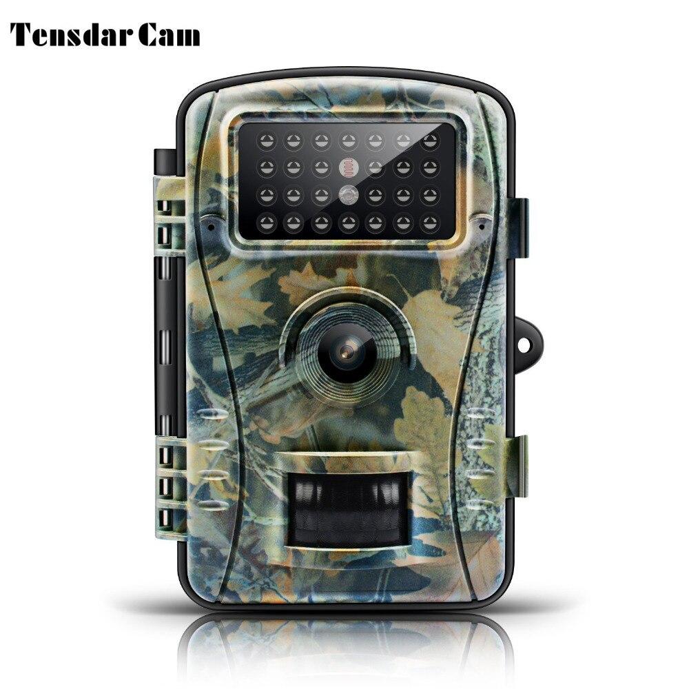 Caméra de sentier de Vision nocturne jeu caméra de chasse 8MP 720 P HD sans lueur infrarouge Surveillance extérieure caméras de faune piège