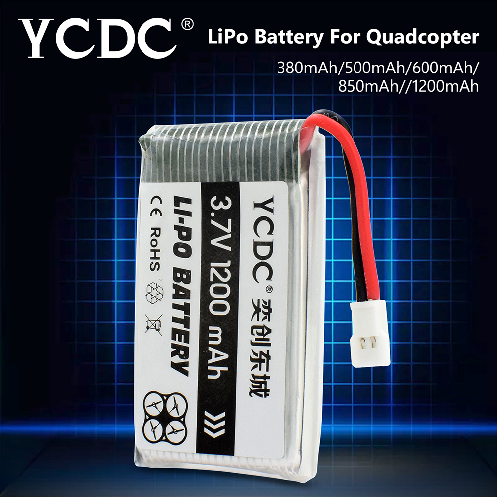 1x 380-1200mAh 3.7V 25C 1S Spare Li-Po Battery For SYMA X5C-1 X5SC GOOLRC T37 Top Sale RC Quadcopter Drone Battery For SYMA