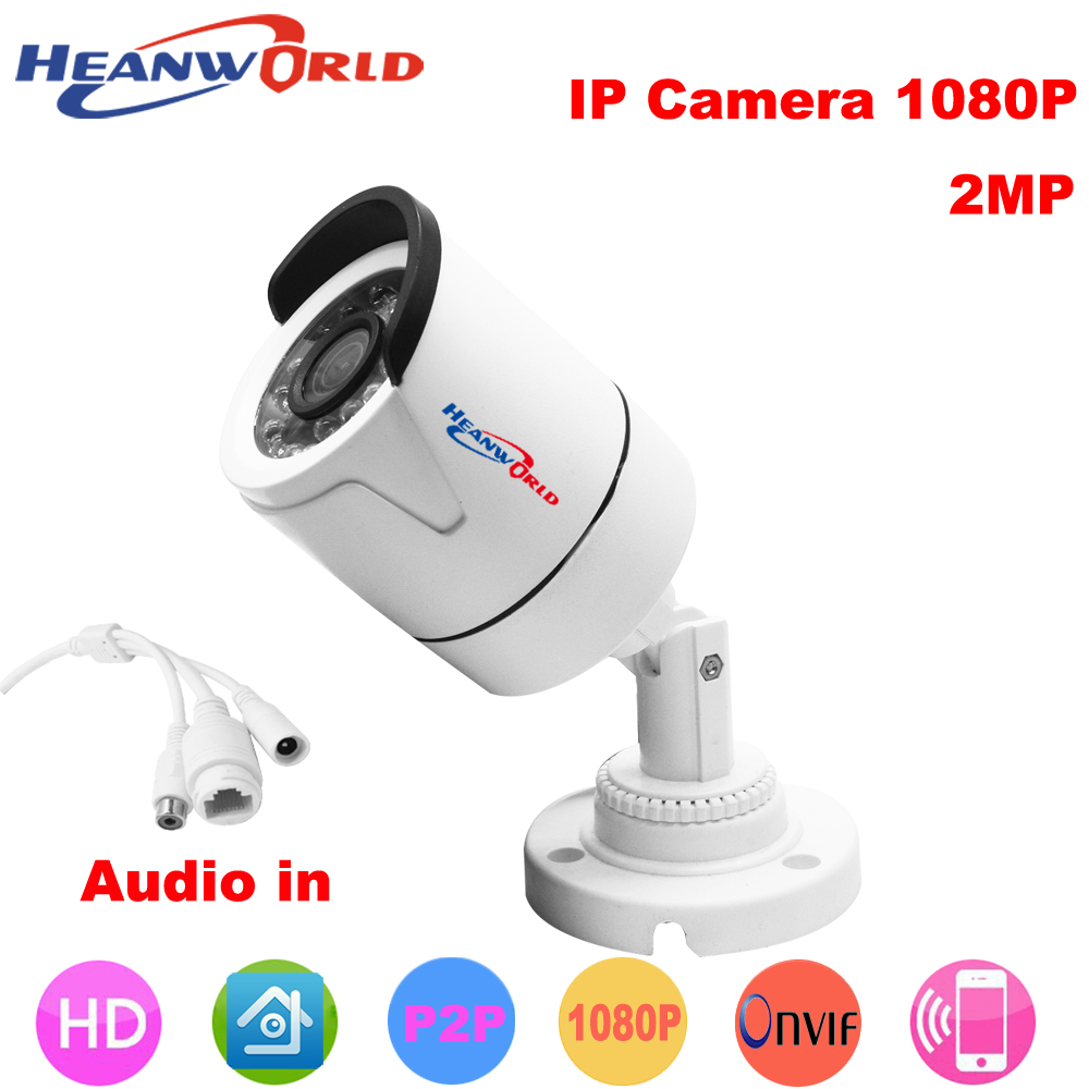HD 1080P IP camera mini Camera outdoor waterproof audio-in Night Vision Security CCTV Camera webcam support smart phone APP