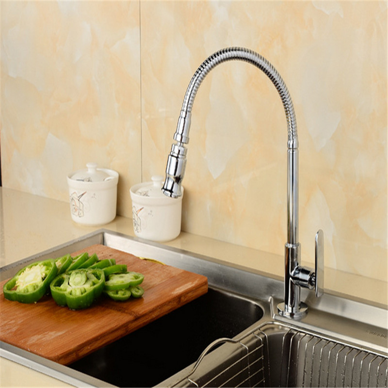 Solid Brass kitchen Faucet , single Cold Kitchen Tap, Single Hole ...