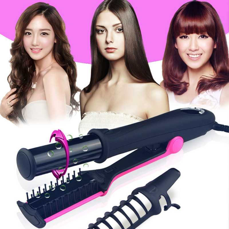 Professional Hair Straightening Iron Curling Iron Style 2 in 1 Without The Damage Hair Straightener Flat irons Hair Dropshipping z050 2 in 1 hair straightener curling styling tools kemei professional ceramic flat irons pranchas de cabelo straightening iron