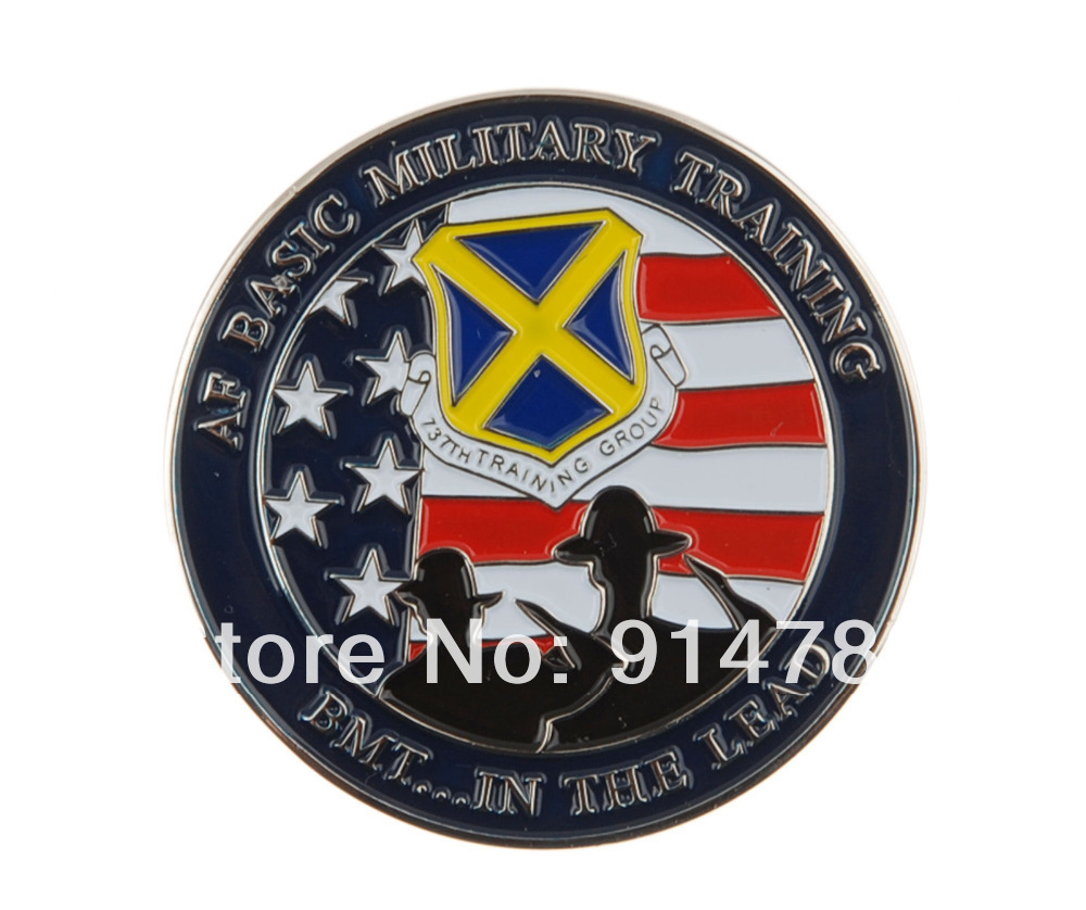 US AF BASIC MILITARY TRAINING 737TH TRAINING GROUP CHALLENGE COIN-34012