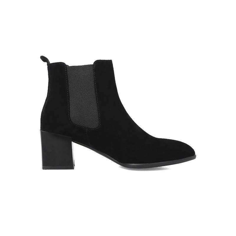 80a6da2e La negro Elegante Suede Nueva Vaca Mujer 2018 Memunia Botas Zapatos Altos  Tacones Otoño Vestido Invierno ...