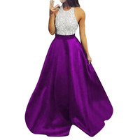 Women Dress Formal Prom Ball Gown Sexy Bridesmaid Halter Long Dress woman party night dresses Ladies Dresses