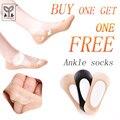 Yongchun sílica chinelos meias femininas meias invisíveis finas primavera e summer-antiderrapante boca rasa transparente ultra-thin106a