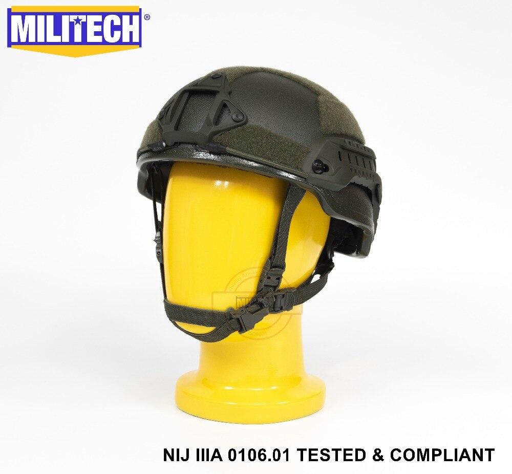 ISO Certified NIJ Level IIIA 3A Militech OD 2019 ARC Mid Cut Bulletproof Sentry XP Aramid