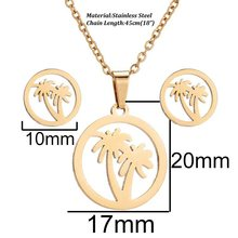 Yiustar Simple Mini Coconut Tree Large Size Jewelry set Bead Necklace Earrings for Women Gold Color Micronesia Hawaii Marshalls(China)