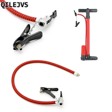 QILEJVS Bike Tyre Hand Air Pump Inflator Hose Replacement Tube Rubber For Tire