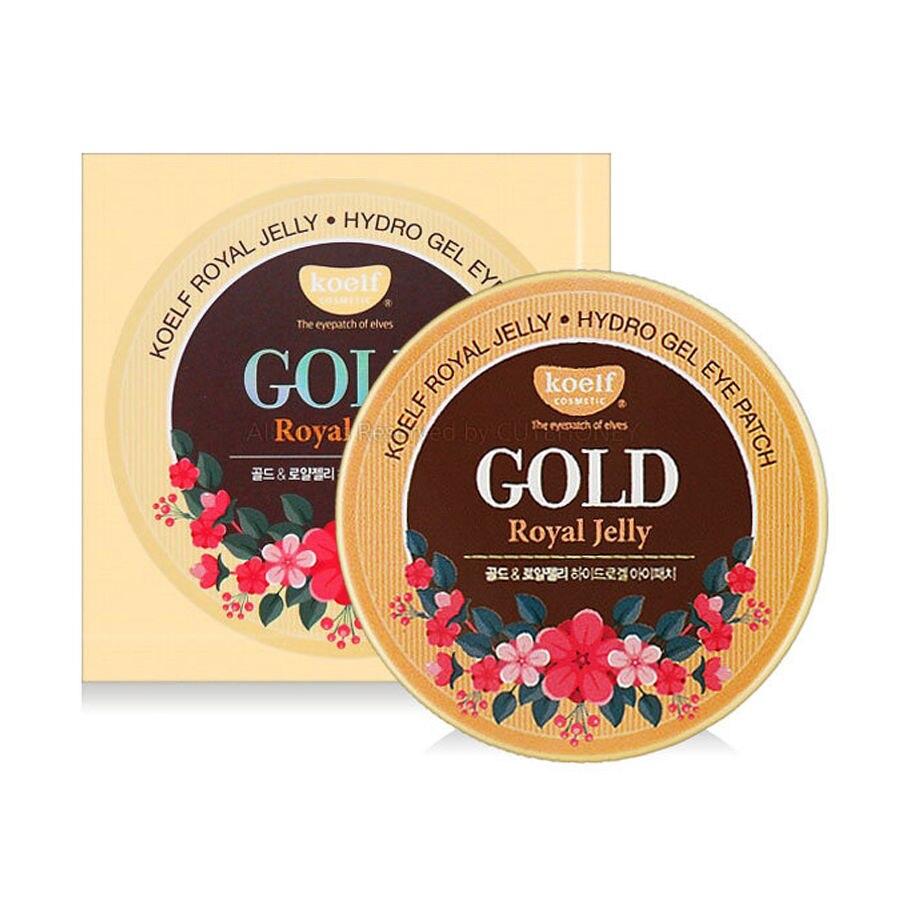 Korean Cosmetic KOELF Gold Royal Jelly Hydro Gel Eye Mask 60pcs Anti Wrinkle Eye Patch Dark Circles Eye Bags Remover Eye Care крем для ног koelf koelf ko009lwmcb32