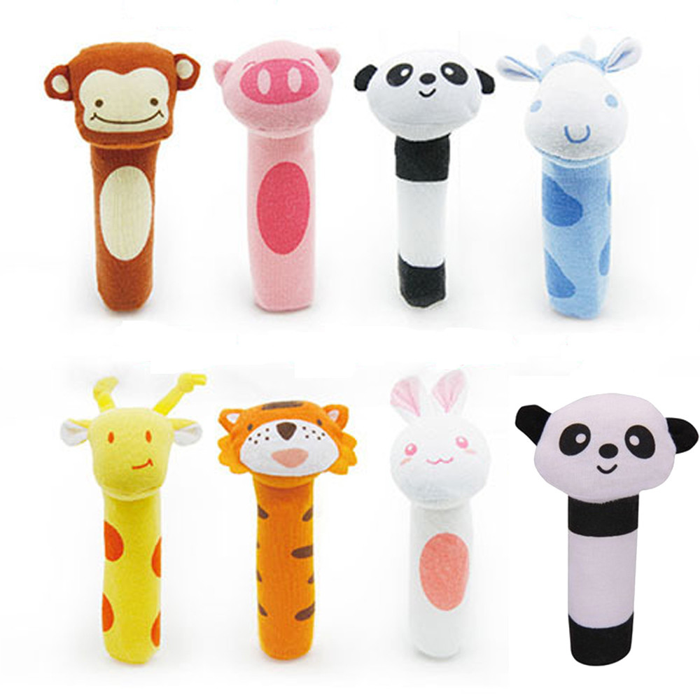 BB bar Toy Animal bell Dolls Baby Kid Birthday Party Gift