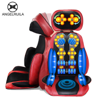 Angelruila Electric Vibrating Back Massager Neck Massage Cushion Pillow Body Heating Kneading Massage Chair Sofa Device
