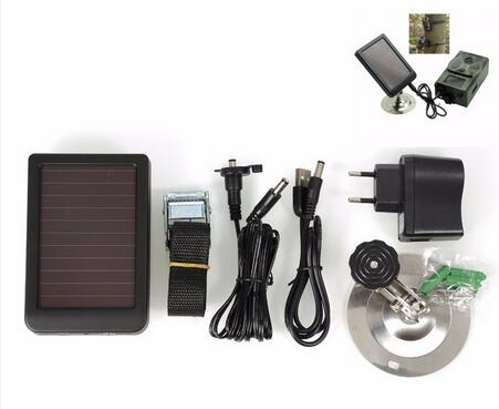 <font><b>Suntek</b></font> Hunting Trail Cameras Solar Panel HC300M HC350M HC500M HC550M <font><b>HC700G</b></font> Series Wild Cameras Solar Charger External Battery image