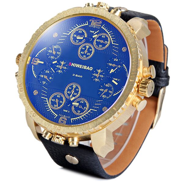 Shiweibao A1165 Men Quartz Watch Multi-movt sport luxury brand military relojes wristwatch mens casual clock Water Resistant