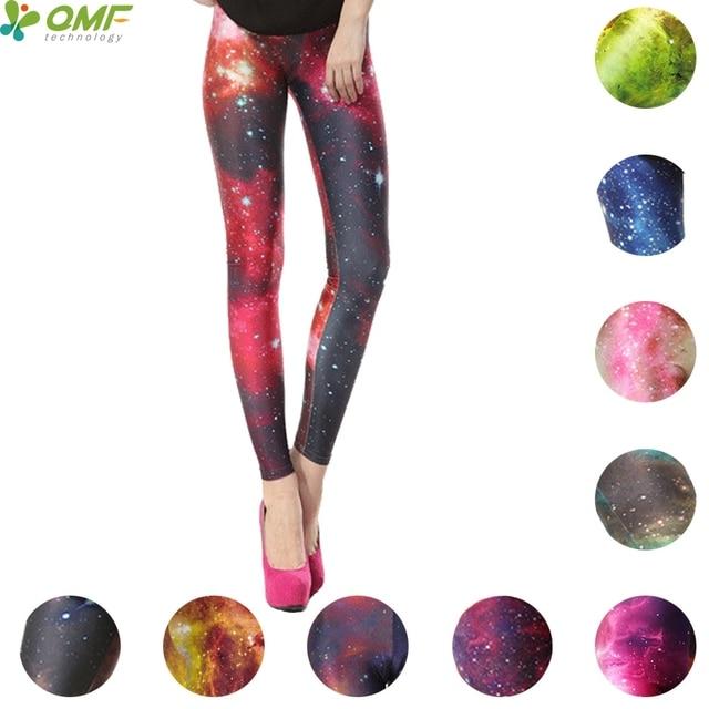 a13b550bb18ce1 Flaming Star Nebula Print Yoga Pants Fitness Leggings Punk Women Skinny  Tights Space Aurora Sky Pencil Trousers Halloween