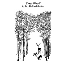 AZSG Deer Wood Silicone Clear Stamps/Seal For DIY Scrapbooking Decorative Card Making Craft Fun Decoration Supplies