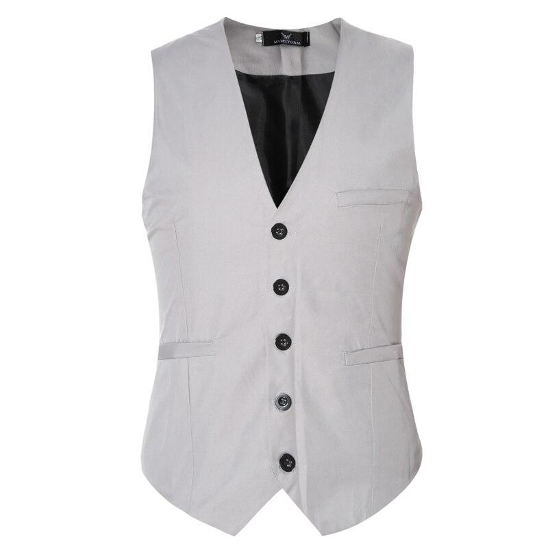 Large size M-6XL multi-color 2017 men Slim Suit vest fashion Business Sleeveless Dress Blazers vest Wedding Wholesale & Retail