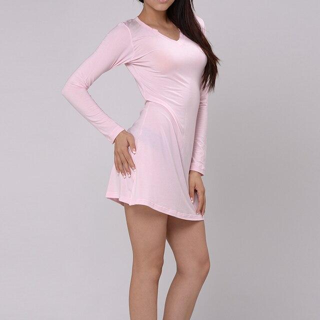 Aliexpress.com : Buy KVF Long Nightgown Women Sleepwear T Shirt ...
