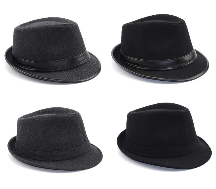 [AETRENDS] 2017 İngiltere Stil Fedora Caz Şapka Erkekler Vintage - Elbise aksesuarları - Fotoğraf 5