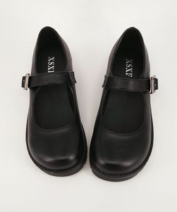 Image 3 - Japanese School Students Uniform Shoes Uwabaki JK Round Toe Buckle Trap Women Girls Lolita Cosplay Med Heels G10