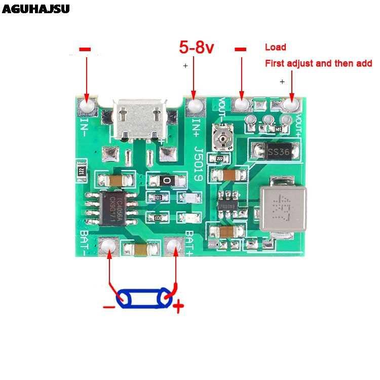 3.7V 9V 5V 2A Adjustable Step Up 18650 Pengisian Debit Terintegrasi Modul