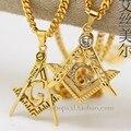 Banhado a ouro BLING DO PEDREIRO LIVRE PINGENTE de 70 cm de cadeia Longa de Alta Qualidade de Estrela Da Moda Hiphop zircão declaração colar homens jóias