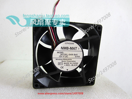 NMB-MAT 3612KL-04W-B45, B71 DC 12V 0.41A, 90x90x32mm   Server Square  fan nmb mat 3110kl 04w b49 b02 b01 dc 12v 0 26a 3 wire server square fan