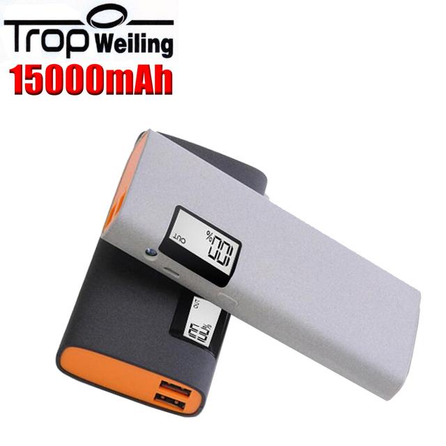 Poveda Tropweiling 18650 banco de la energía 15000 mah cargador móvil banco portable teléfono powerbank cargador de batería para Todos Los teléfonos