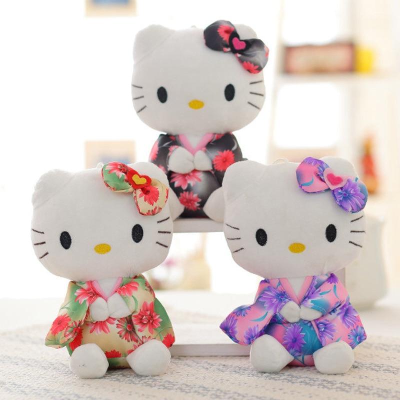 20cm Kawaii doll Cute Japanese pig kimono kitten doll sucker