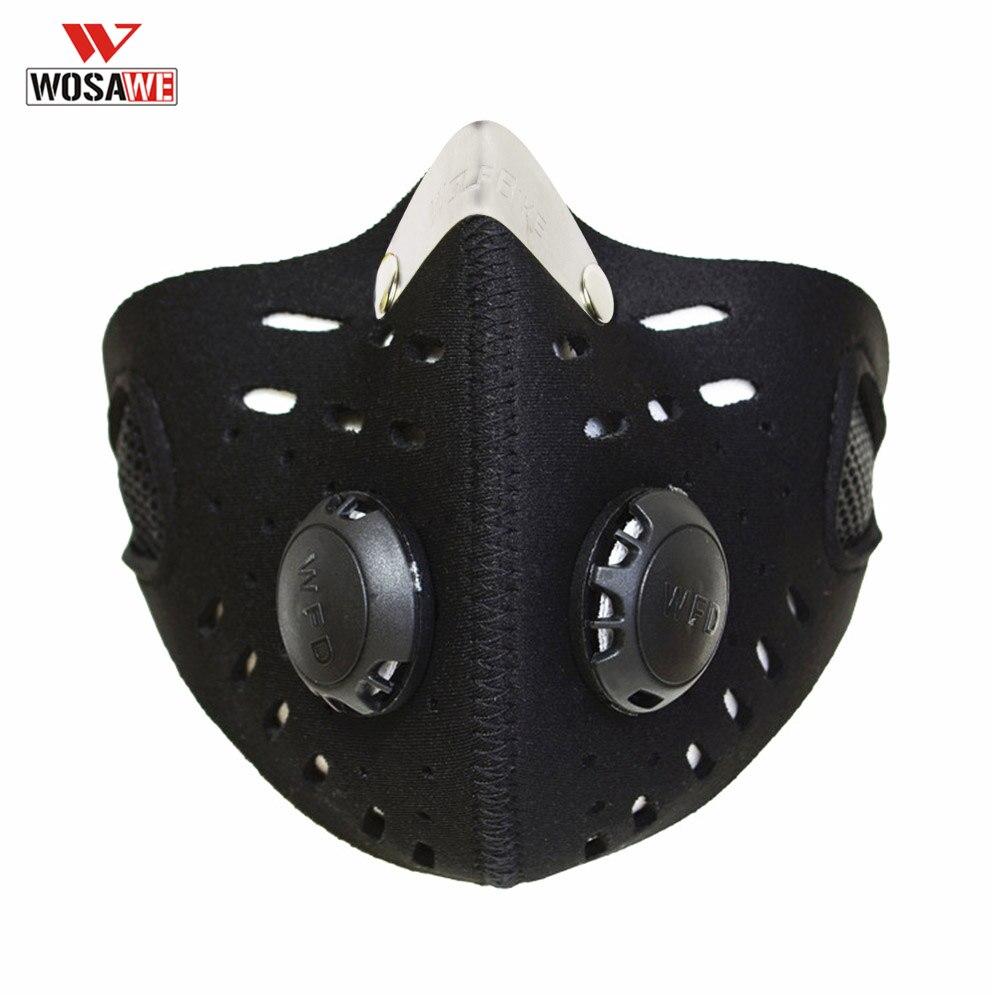 WOSAWE Detachable Motorcycle Tactical Mask Half Face Half Balaclava Dustproof Neoprene Bicycle Cycling Motorcycle Mask For Men