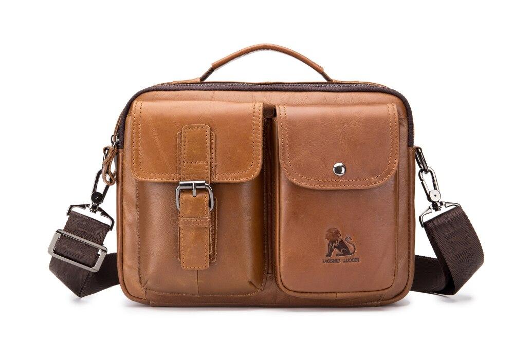 Hommes en cuir véritable Messenger sacs décontracté Business sac à main homme épaule bandoulière Messenger sac en peau de vache voyage sacs à main