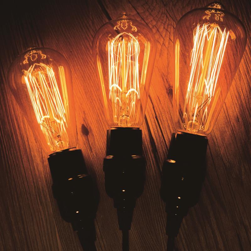 Купить с кэшбэком Retro Lamps E27 220V 240V LED Filament Light ST64 ST58 Glass Ball Bombillas LED Bulb Edison Candle Light 40W