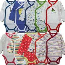 Maman de Soins Printemps 2-Piece Garçons Filles Vêtements 100% Coton Ouverture Latérale Bébé Body Infantile Nouveau-Né Salopette Bebe Vêtements